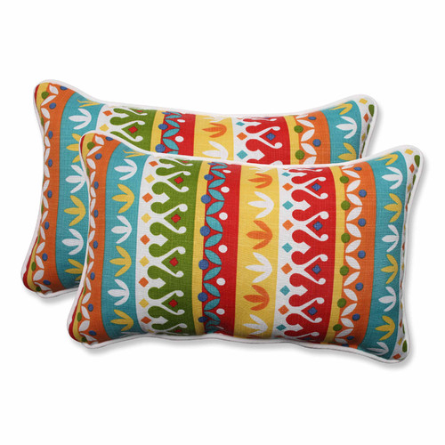 Pillow Perfect Outdoor/ Indoor Cotrell Garden Rectangular Throw Pillow (Set of 2)