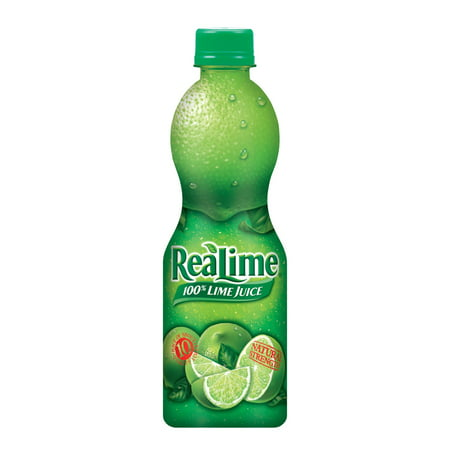 Realime 100% Juice, Lime, 15 Fl Oz, 1 Count