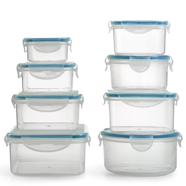 1790 Plastic Food Containers with Lids - 16 Piece, BPA ...