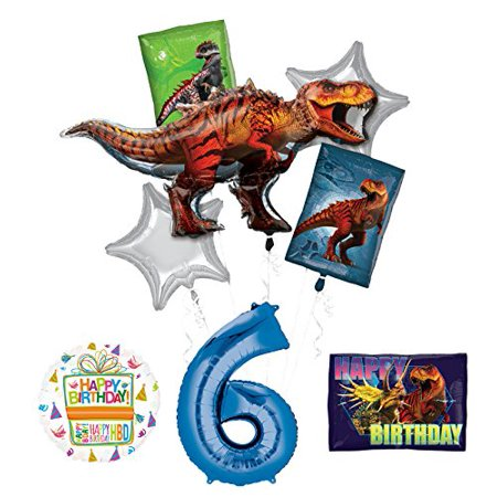 Mayflower Products Jurassic World Dinosaur 6th Birthday Party Supplies and Balloon - Dinosaurs Birthday