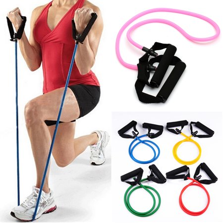 5Pcs Latex Resistance Bands For Yoga Pilates Abs Exercise Workout Fitness Gym Sports Us