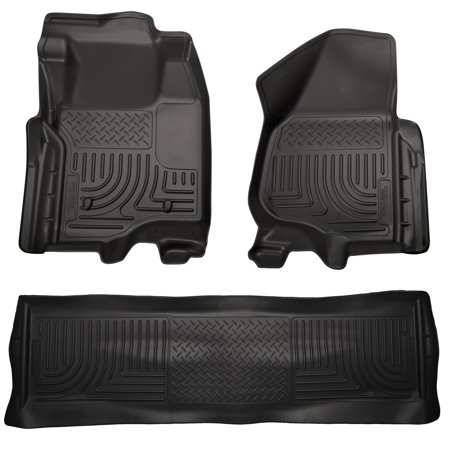 F250 Carpet - Husky Liners Front & 2nd Seat Floor Liners Fits 11-12 F250 Crew w/o foot rest