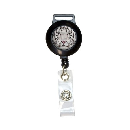 Tigers Badge (White Bengal Tiger with Blue Eyes Retractable Badge Card ID)