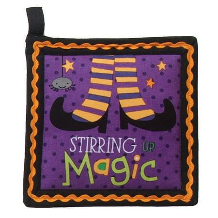 Halloween Stirring Magic Purple Kitchen Pot Holder