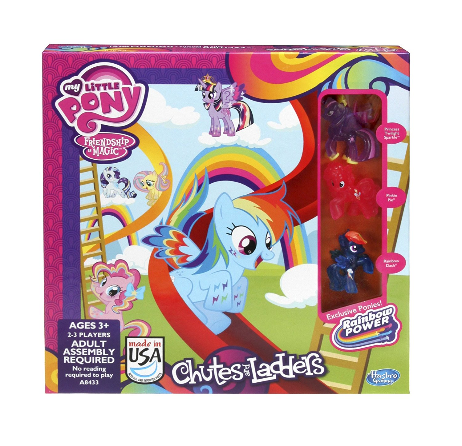 My Little Pony Chutes and Ladders Game..., By Hasbro Ship from US by