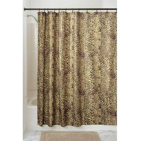 InterDesign Cheetah Fabric Shower Curtain, 72