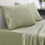 1500 Thread Count Egyptian Quality Microfiber Deep Pocket Bedroom Sheet Set Sweet Home Collection Sage - Queen
