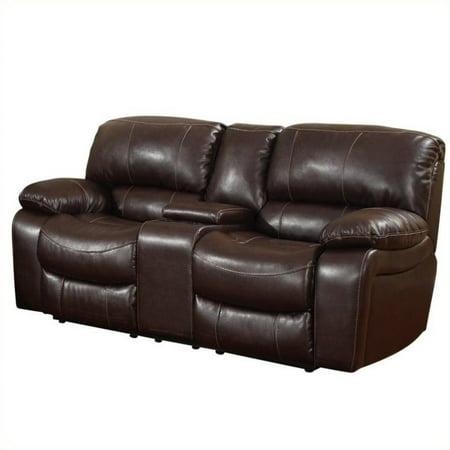 Enjoyable Global Furniture Usa Leather Console Reclining Loveseat In Burgundy Inzonedesignstudio Interior Chair Design Inzonedesignstudiocom