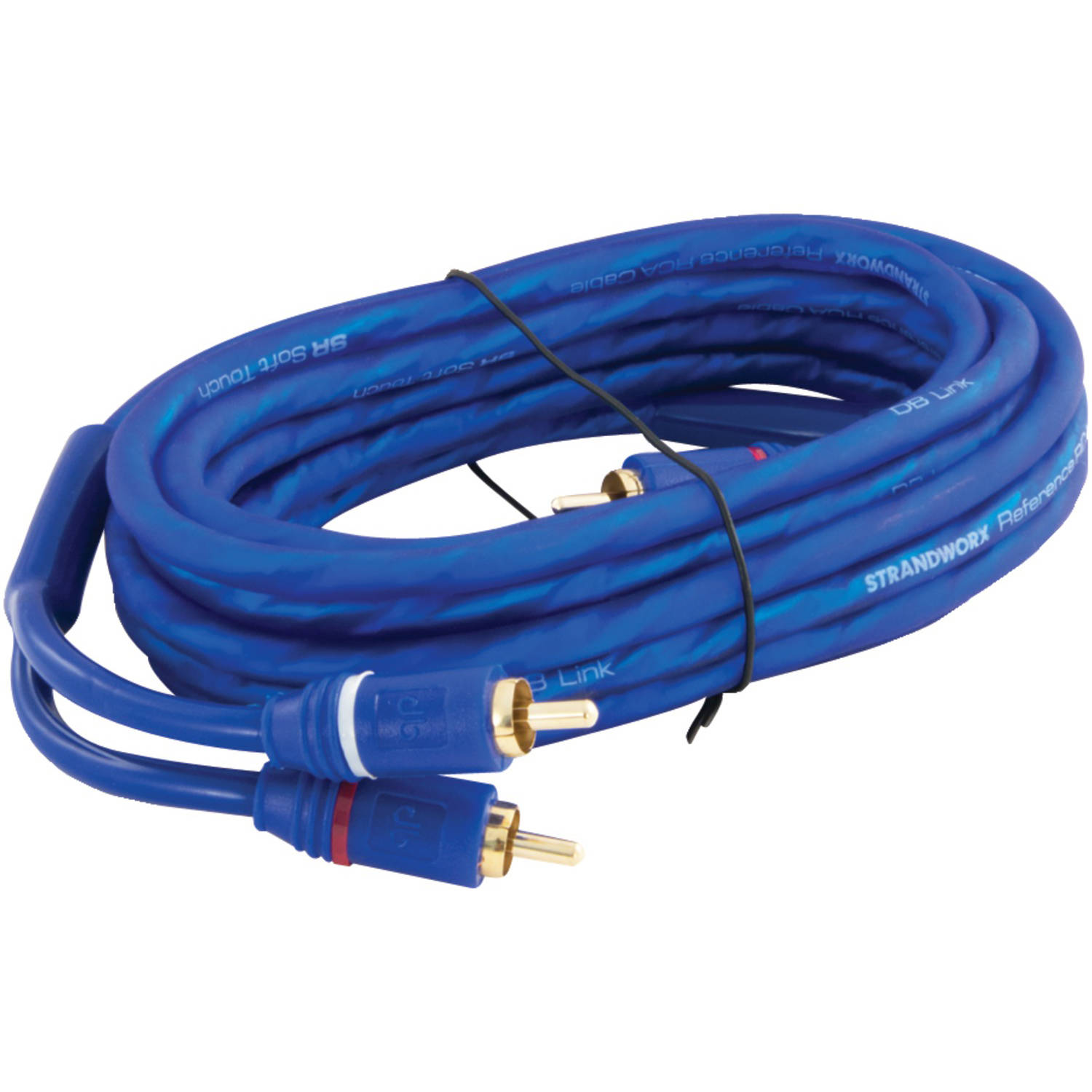 DB Link SR12 Soft-Touch Triple Shielded Blue Strandworx RCA Cable, 12'