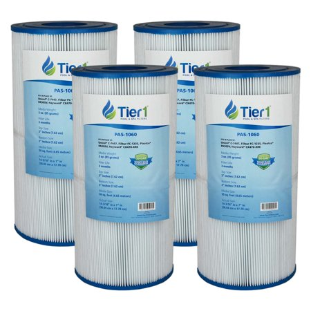 Image of Tier1 Hayward C2025, SwimClear C2020 C2025, Filbur FC-1235, Pleatco PA50SV, Unicel C-7447 Comparable Replacement Pool and Spa Filter Cartridge (4-Pack)