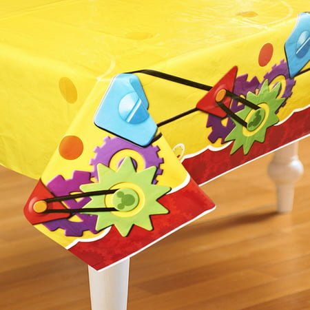 Mickey Mouse Tablecloth Ideas (Mickey Mouse 'Playtime' Plastic Table Cover)
