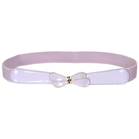 BMC High Waist Skinny Elastic Light Purple Butterfly Wings Design Locking Buckle Fashion (Best Locking Gel For Dreads)