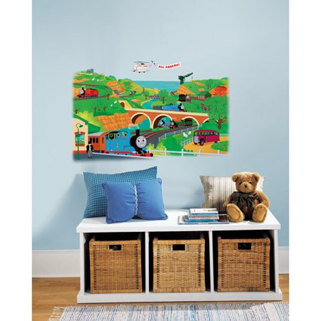 Roommates   Thomas The Train Peel   Stick Giant Wall Decal