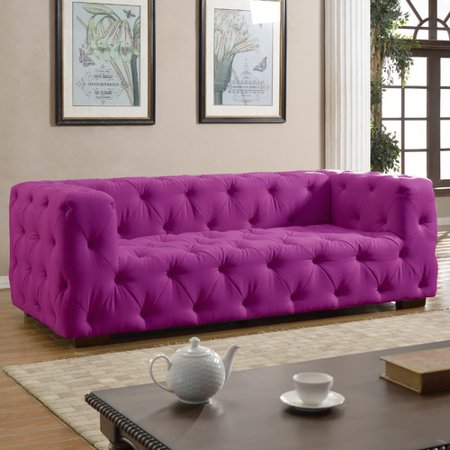 Madison Home USA Tufted Large Sofa - Walmart.com