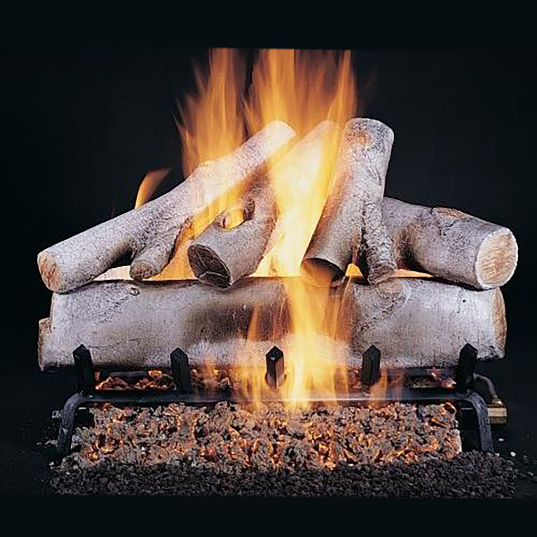 "Rasmussen White Birch See-Through Gas Logs, Logs Only, 24"""