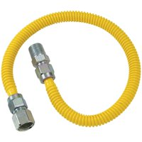 """BrassCraft CSSD54-72 Gas Dryer & Water Heater Flex-Line (1/2"""" OD (1/2"""" FIP x 1/2"""" MIP) x 72"""")"""