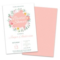 a220de33c509 Product Image Personalized Spring Florals Bridal Shower Invitations