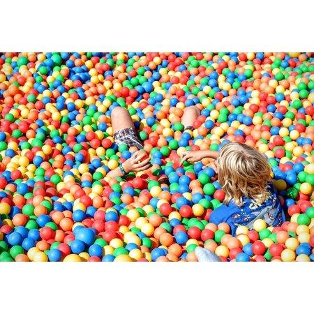 LAMINATED POSTER Balls Ball Pit Plastic Balls Plastic Colorful Play Poster Print 24 x 36