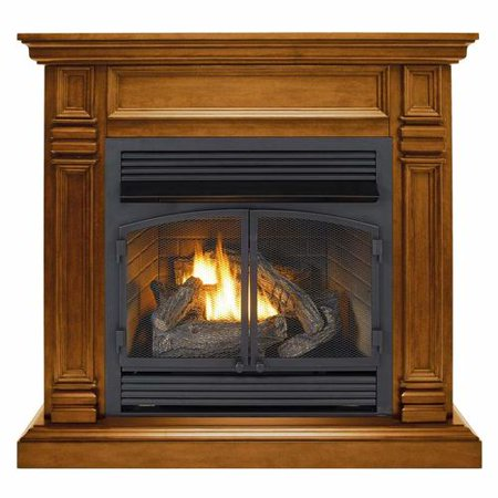 Duluth Forge Dual Fuel Ventless Fireplace - 32,000 BTU, Remote Control, Apple Spice Finish ()