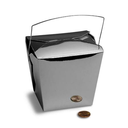 Metallic Silver Chinese Take Out Boxes 4