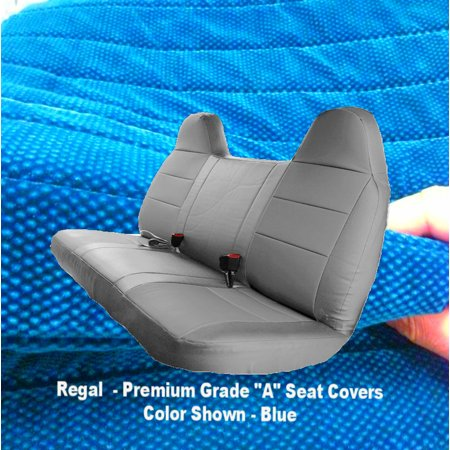 Prime 1992 2010 Ford F Series F150 F250 F350 F450 F550 Solid Bench Seat Cover Custom Made Fit Blue Machost Co Dining Chair Design Ideas Machostcouk