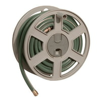 Suncast 100 ft. Sidewinder Mounted Resin Hose Reel, Dark Taupe