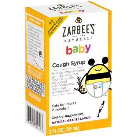 Zarbees Naturals Baby Cough Syrup Grape  2 0 Fl Oz
