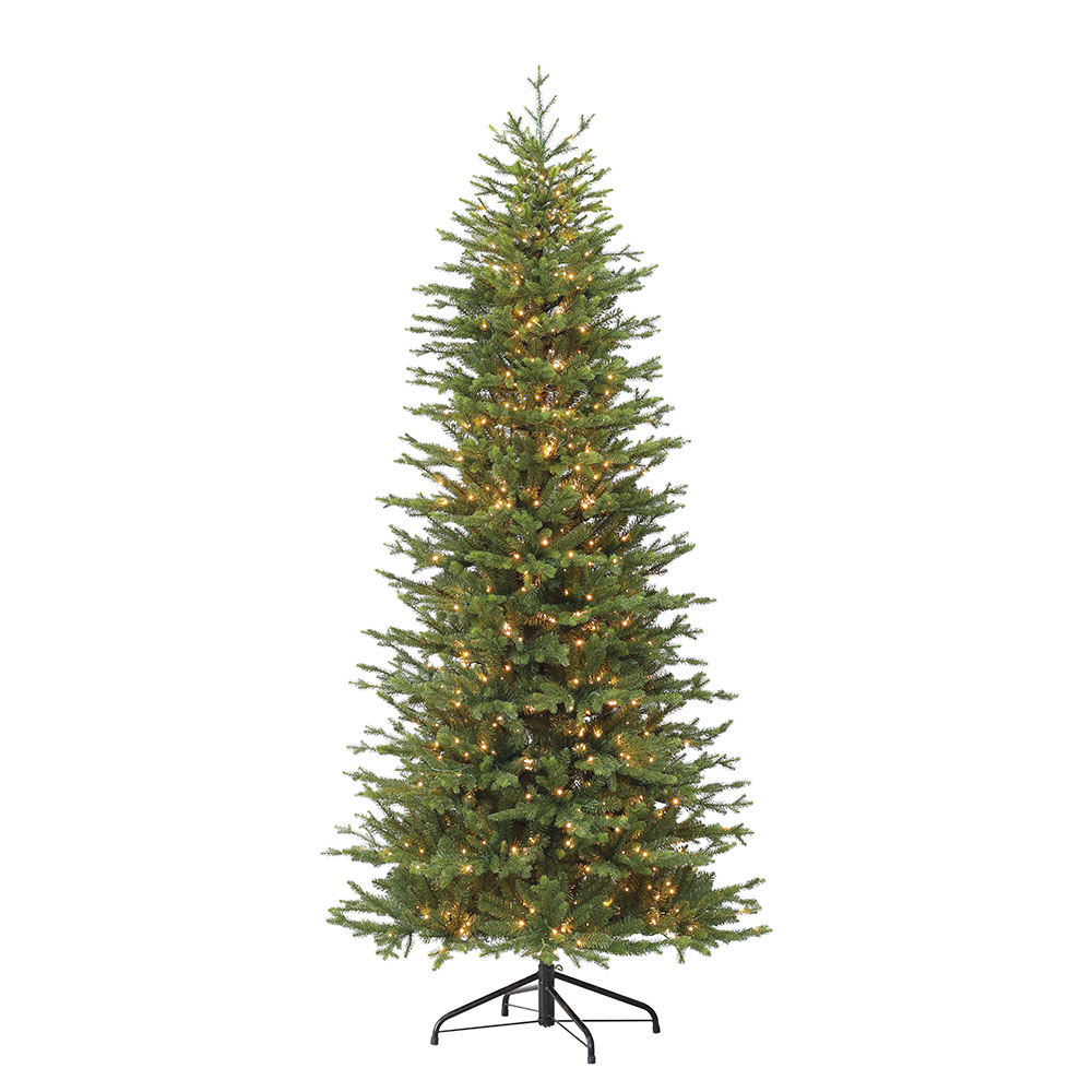 Christmas Tree Miracle Movie: Puleo International 7.5 Ft. Pre-Lit Slim Atlantic Fir