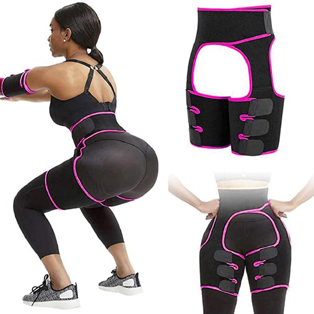 Hopgo 3-in-1 Waist Trainer Hip Enhancer Invisible Lift Butt Lifter Shaper Body Shaper Thigh Trimmers for Women Exercise Wokout Fitness Support