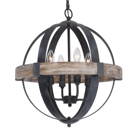 Parrot Uncle Castello 4-Light Chandelier, Weathered Oak (Weathered Patina Chandelier)
