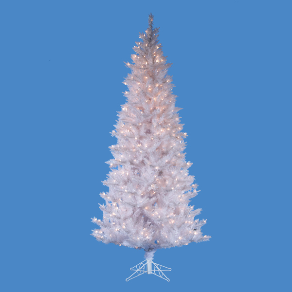7.5' Pre-Lit Artificial Designer Crystal White Christmas Tree - Clear Lights