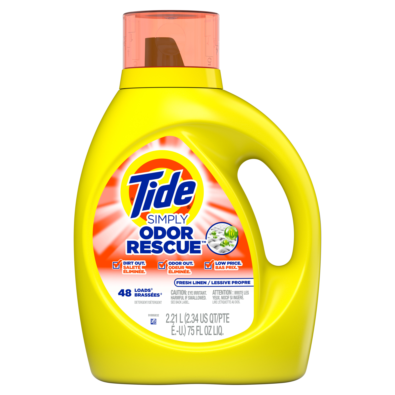 Tide Simply Odor Rescue 48 Loads Liquid Laundry Detergent 75 Fl Oz Walmart Com Walmart Com