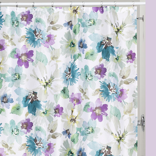 Creative Bath Bouquet Polyester Shower Curtain