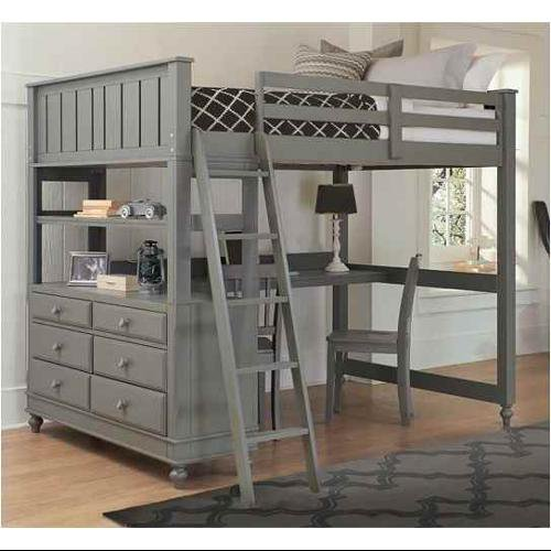 Full Loft Bed With Desk In Stone Walmart Com