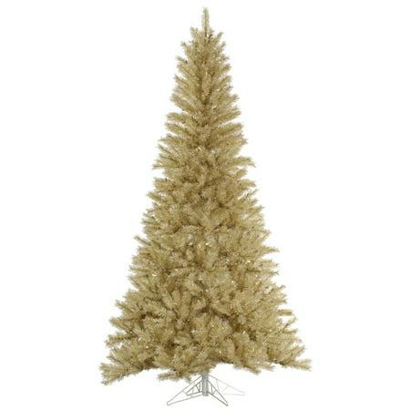 Vickerman 33084 10 X 63 White Gold Tinsel Christmas Tree A148085
