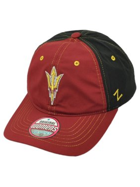 NCAA Zephyr Arizona Sun Devils Womens Hat Cap Black Burgundy Adjustable Ladies