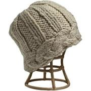 Nirvanna Designs CH310 White Braided Edge Hat with Fleece