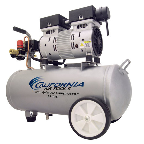 California Air Tools 5510 Ultra Quiet  & Oil-Free  1.0 Hp, 5.5 Gal. Steel Tank Air Compressor