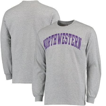 - Northwestern Wildcats Fanatics Branded Basic Arch Long Sleeve T-Shirt - Gray