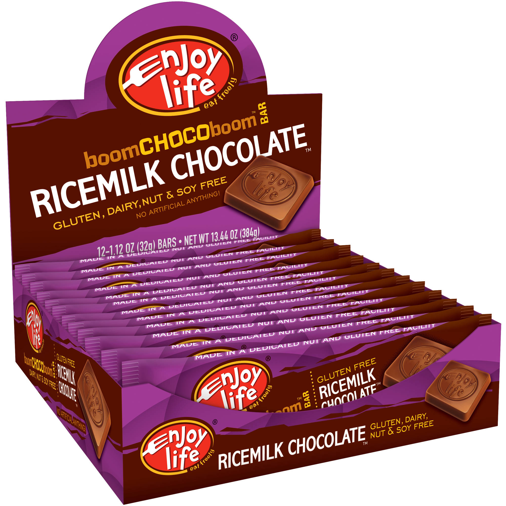 Enjoy Life Gluten-Free, Dairy-Free Ricemilk Chocolate��� Boom Choco Boom��� Bars, 1.12 oz (Pack of 24)