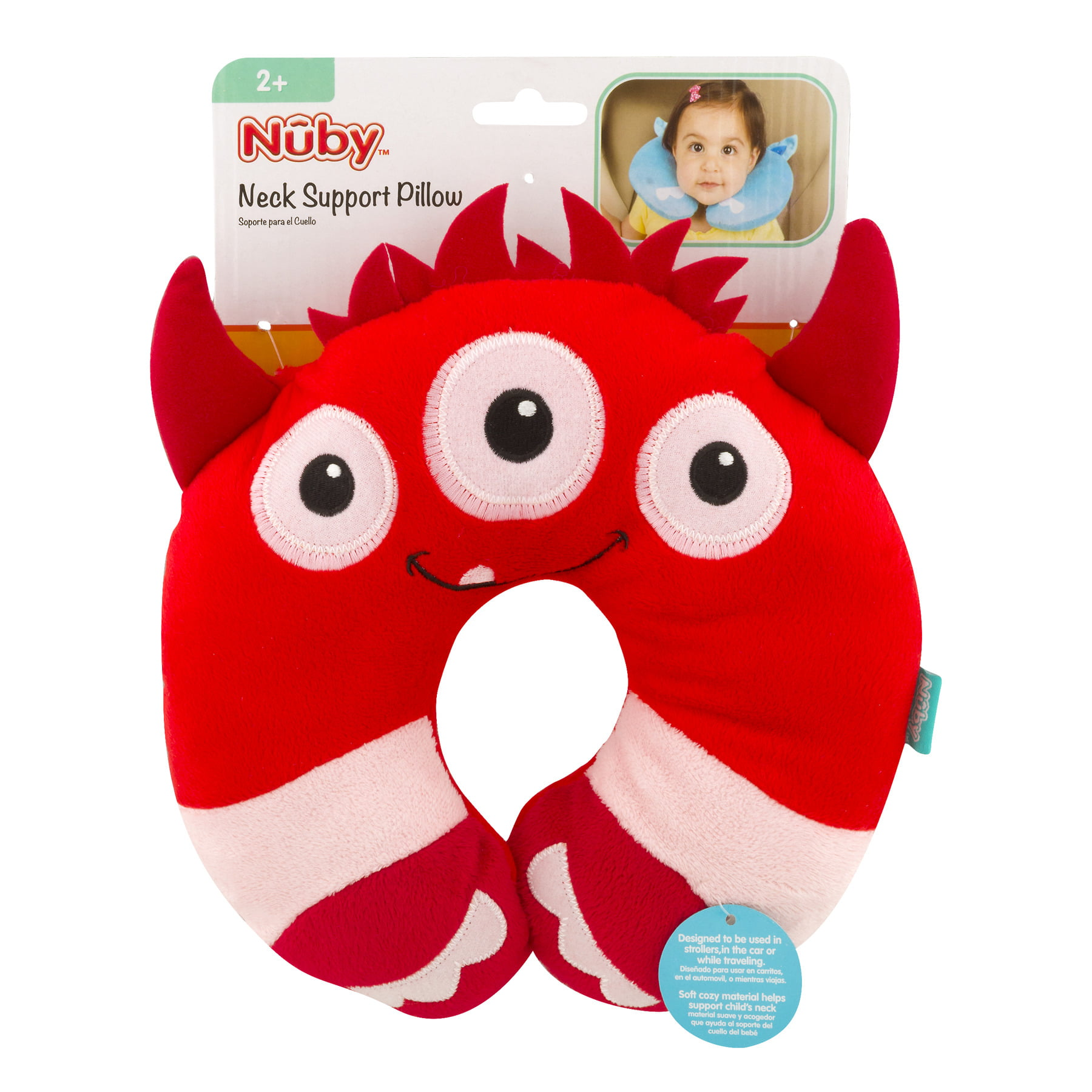 Nuby Monster Neck Support Pillow, Red by Nuby