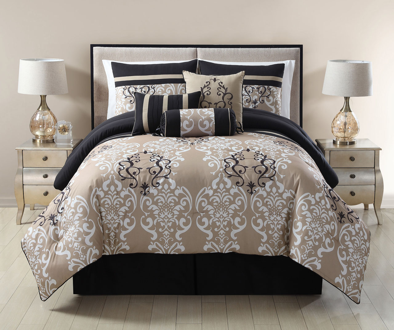 comforter lodge sets taupe brown walmart queen ecrins very simple