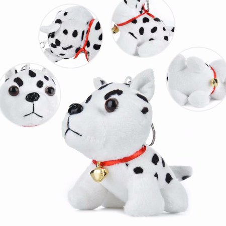 Akoyovwerve Cute Husky Pendant Spotty Dog Plush Kids Toy Childrens Stuffed Animal,White