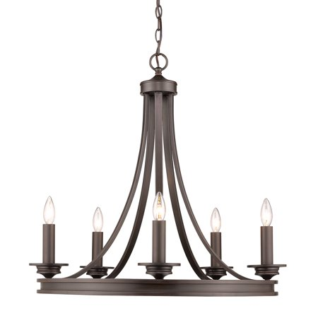 Saldano 5-light Chandelier in a Rubbed Bronze (Bronze Finish 8l Chandelier)