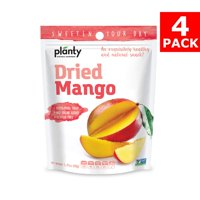 Planty Dried Fruit Snacks, No Sugar Added, Non-GMO, Vegan and Kosher Certified (Mango, 4-Pack)