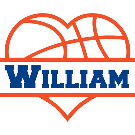 Basketball Locker Decorations (Basketball Heart Team Sports Customized Wall Decal - Custom Vinyl Wall Art - Personalized Name - Baby Girls Boys Kids Bedroom Wall Decal Room Decor Wall Stickers Decoration Size (40x40)