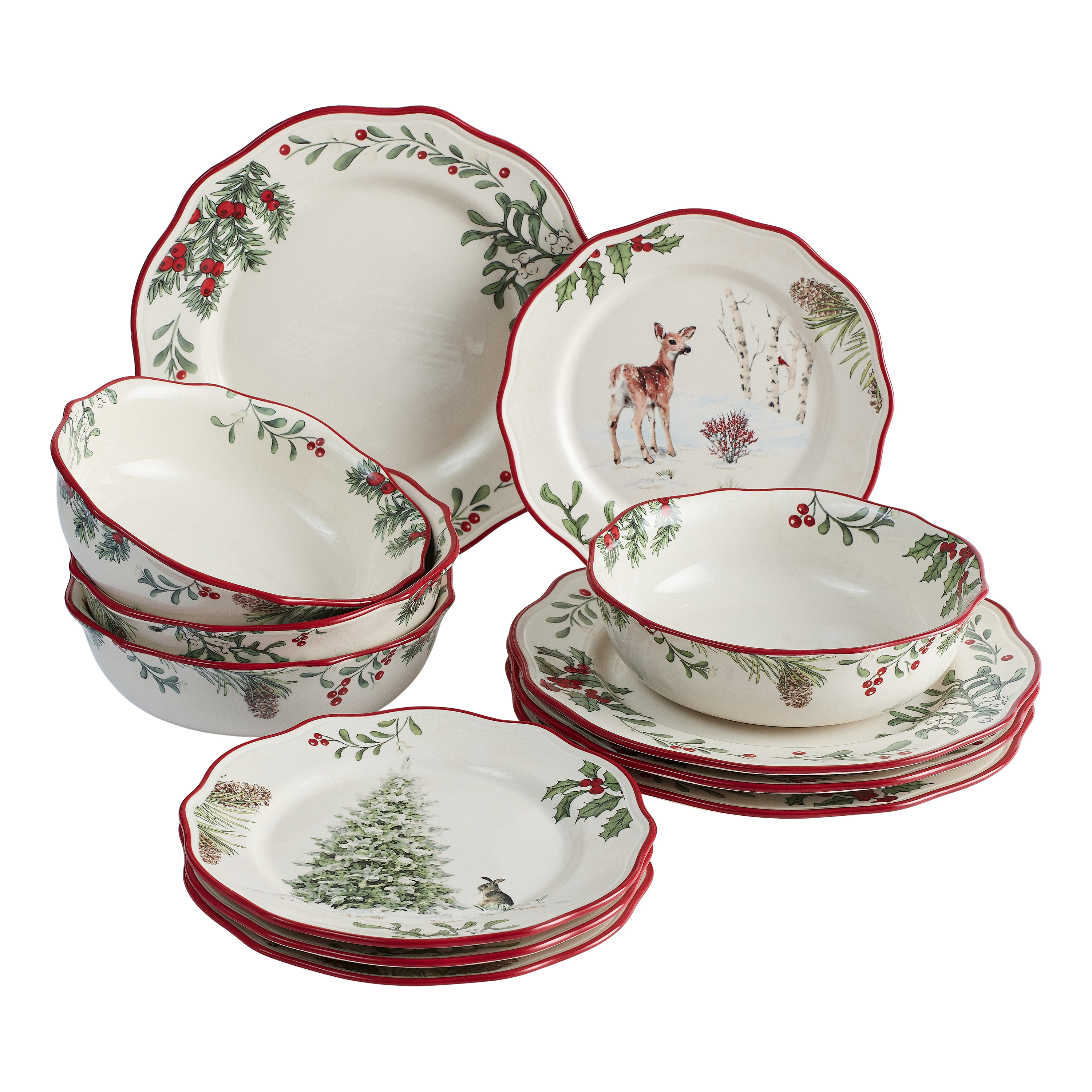 Canisters Home Essentials Festive Tree Collection Serveware Plates +++ Bowls