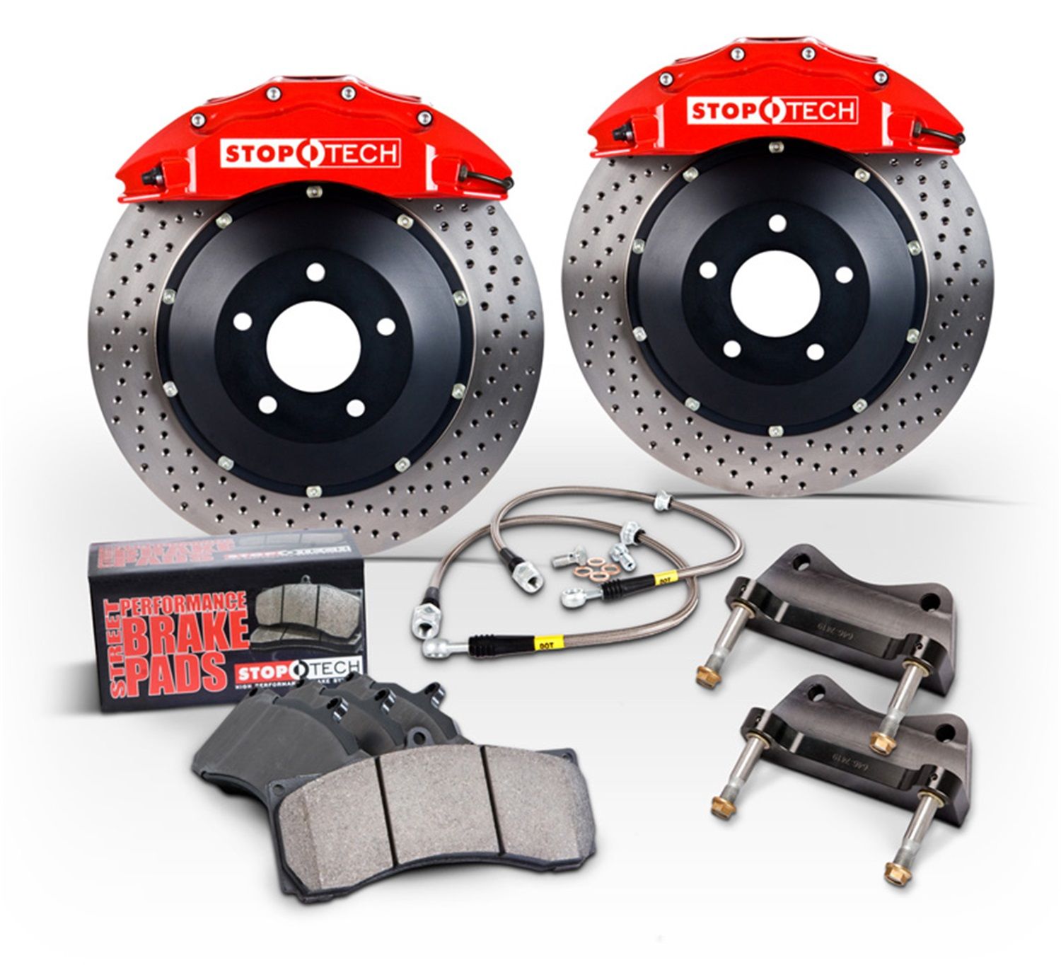 StopTech 83.896.6800.71 StopTech Big Brake Kit Fits 15-16 Golf R S3