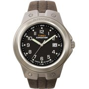 timex indiglo watches timex mens expedition metal tech watch brown leather strap