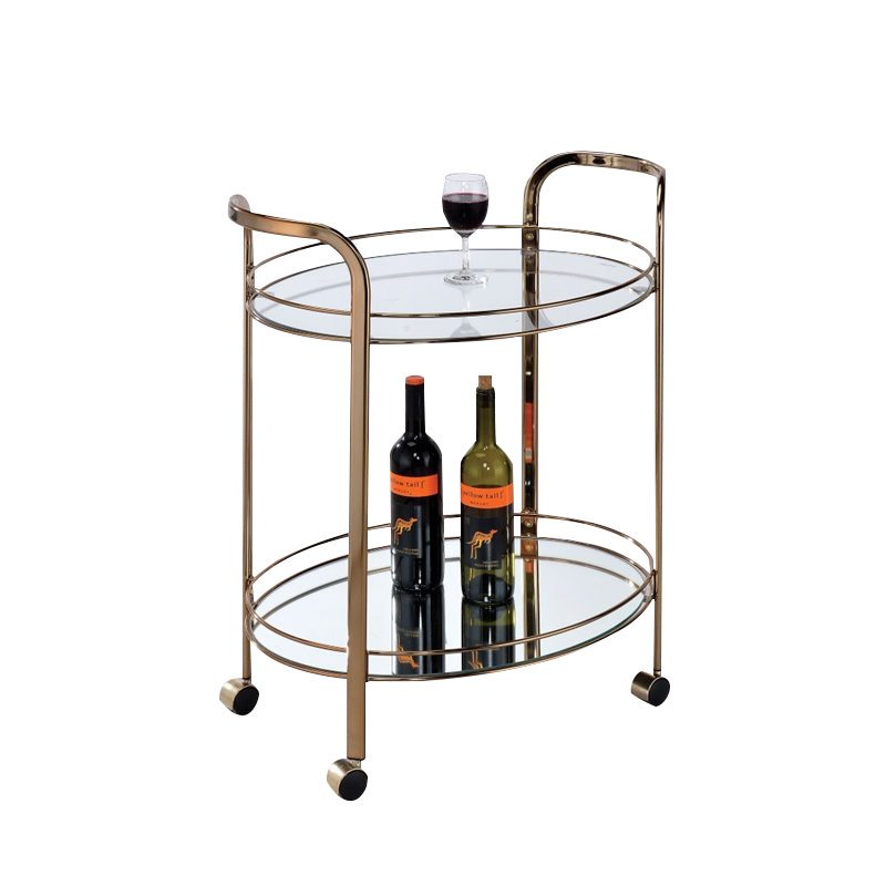 Furniture of America Daniell Modern Bar Cart in Champagne